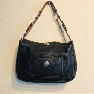Vintage Coach Chelsea Black Pebbled Purse